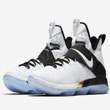 Tênis Nike Lebron 14 Xlv Masculino Bhm Importado White Kirye