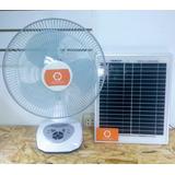 Ventilador Recargable Con Panel Solar