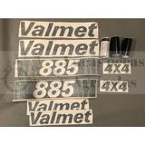 Jogo Decalque Adesivo De Lataria Trator Valmet 885 4x4
