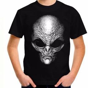 Camiseta Alienigenas Greys Alien Brilha No Escuro Ufo Ovnis