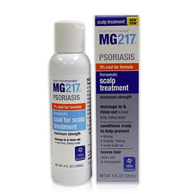 Mg217 Psoriasis 3% Coal Tar Therapeutic Scalp Treatment, 4 F