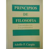 Principios De Filosofia Carpio Rosario Nuevo 3 Disponibles