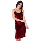 Vestido Veludo Feminina Brenda Lee - Vinho