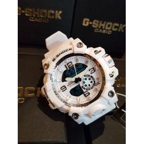 Relógio G Shock Masculino Barato Branco + Caixa + Brinde