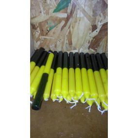 Vela Palito Bicolor Amarelo/preto 1 Kilo Imperdível !!!!!!!!