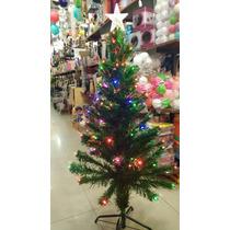 Arbol De Navidad Con Fibra Óptica - 125cm