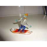 Surfista De Vidrios De Colores 7 X 8 Cm Surf Regalo