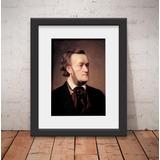 Quadro Wagner Música Clássica 46x56cm Paspatur + Vidro T67