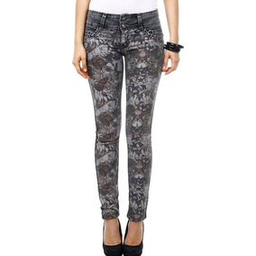 Calça Feminina Jeans Biotipo Estampa Frontal Tam 36! Nova