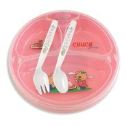 Prato Térmico Infantil Chuca Baby - 3 Divisões - Rosa