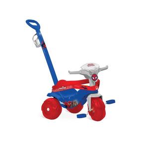 Motoban Infantil De Passeio Homem Aranha Triciclo Fg