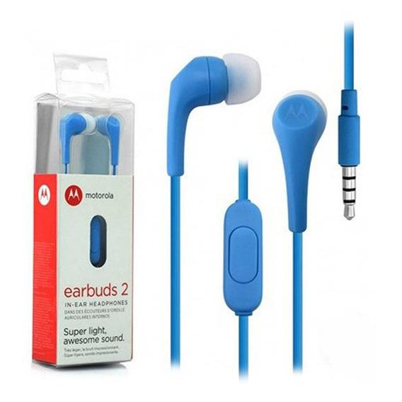 Auriculares In Ear Motorola Earbuds 2 Microfono Manos Libres