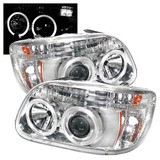 Faros De Lupa Ojo De Angel Led Ford Explorer 1995 1996 1997