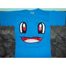 Playeras Pokemon Go Square Talla 6-8 Niño Pikachu Squartle