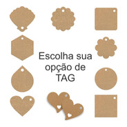 Tags Kraft Diversos Modelos Personalizada Com Sisal 100pçs