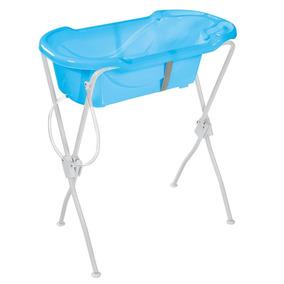 Banheira Ergonômica Com Suporte Azul Tutti Baby