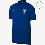 Camisa Polo Brasil 2018 Nike Masculina - Azul