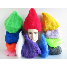 Disfraz, Peluca De Troll V. Colores