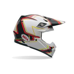 Capacete Bell Helmets Moto 9 Pace Black White