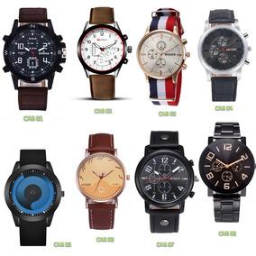 Relojes Para Caballero Lote 8 Pieza De Piel Elegante Reloj