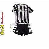 Conjunto Camiseta Short Juventus De Italia Titular Niño 2017