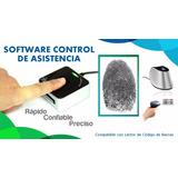 Sistema Control De Asistencia Huella Digital Código Barras