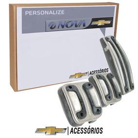 Jogo Pedaleiras Esportivas Aluminio Onix Prisma Cobalt Spin