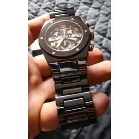 Hermoso Reloj Swiss Legend De Cerámica Negro