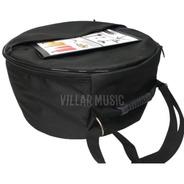 Capa Bag Para Caixa De Bateria 14 X 8  Com Argola De Metal