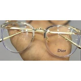 Armacao De Oculos Transparente Dourado Dior - Óculos no Mercado ... ada15eecf9
