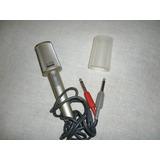 Antiguo Micrófono Estéreo Dinámico Marca Sony