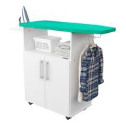 Mueble Tabla De Planchar Organizador De Planchado Puertas Para Guardado  Posa Plancha Espacio Para Colgar Perchas