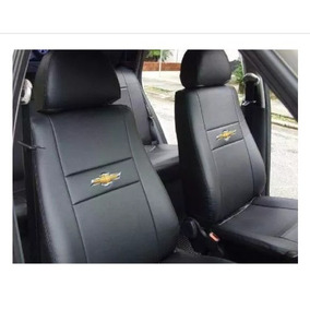 Capa Banco Carro Couro Courvin Corsa Classic +logo Chevrolet