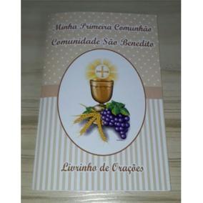 120 Livrinhos De Orações Primeira Comunhão Eucaristia Bege