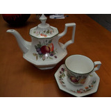 Tetera,taza+plato,4platos Johnson Broth. Porcelana Inglesa