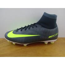 Zapatos Nike Jr Mercurial Victory 6 Cr7 Fg Gris / Verde Niño
