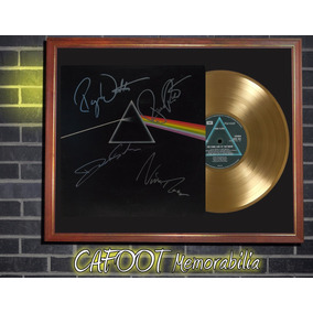 Pink Floyd Dark Side Of The Moon Tapa Lp Firmada Y Disco Oro