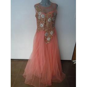 Vestido Indu De Gala Fiesta Coral Talla 34