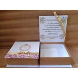Caixa Convite Padrinhos De Casamento 15 Anos Batizado