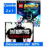Combo 2 X 1 Lego Batman 3 E Infamous Ps3 Digital