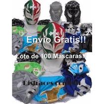Lote De 100 Mascaras De Luchadores P/adultoenvio Gratis$2600