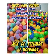 Mix Bolinha+espuma P/piscina De Bolinha Kit C/1500+ Brinde