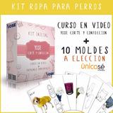 Kit Fabricación Ropa Para Perros Video Curso + Moldes Nuevo!