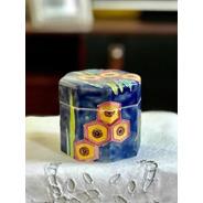 Antiguo Pote Caja De Cerámica Art Decó