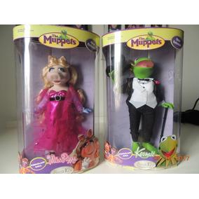 Muppets Bonecos Porcelana Kermit Miss Piggy 31 Cm Novo Raro