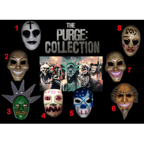 Mascaras Halloween La Purga, The Purge, Jason, Anonymus