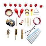 Instrumentos De Percusión Niños Set Musical Con Estuche