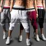 Bermudas Masculinas Moletom Calças Shorts Masculino Bermuda