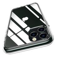Carcasa Clear + Vidrio 3d iPhone 12 Transparente