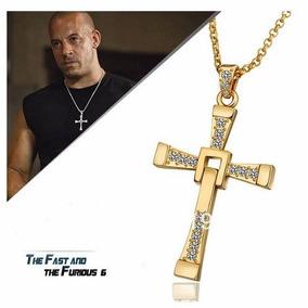 Cadena Collar Cruz De Toretto Rapido Y Furioso Color Oro